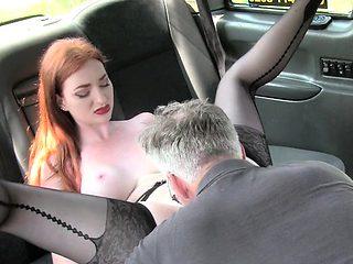 Redhead Hottie Zara Durose Gets Impaled By Driver