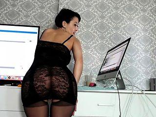 Amateur MILF in lingerie riding cock