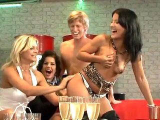 Crazy pornstars Eliss Fire, Carmen Blue and Cindy Gold in best mature, blonde adult movie