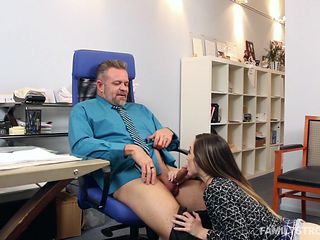 horny stepdaughter makes her step dad crazy