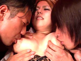 Outstanding hardcore sex with large milk cans woman Kanna Itou