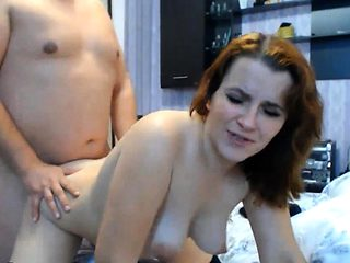 Quick Hard Fuck And Hairy Wife Got Huge Cumshot On Tits