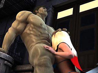 Incredible Hulk fucks smoking hot blonde babe