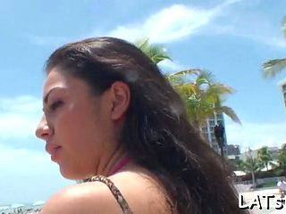 Latina Cutie Blows And Rides Segment