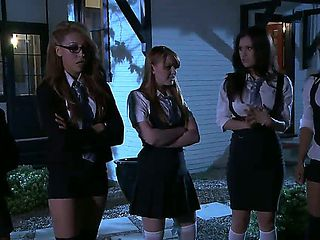 Hot and nasty school girls in uniforms Jayden Lee,Kelly Surfer,Leilani Leeane,Marie McCray and Va...