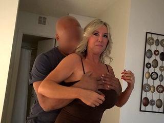 Busty Blonde Wife Goes Ir.
