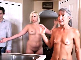 Hot milf threesome and creampie