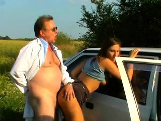 Perverted old dude gets with a taut young pussy