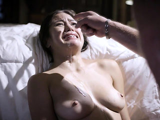 Kendra Spade bursts in tears after being fucked by dad
