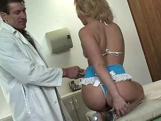Looks like Emma get a creampie treatment from her horny doctor