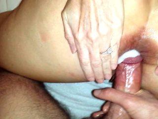 Cumming in Dallas Hotwife's Open Ass