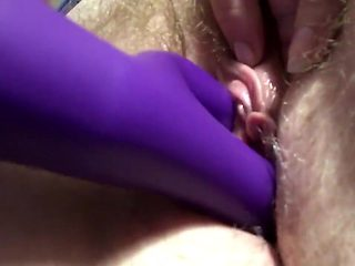 Fucking my virgin pussy with my toy.