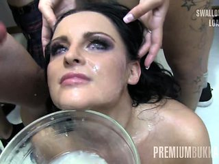 Lola swallows 52 huge mouthful cum loads