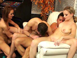 Amazing pornstars Adele Sunshine and Victoria Rose in incredible brunette, hd sex clip
