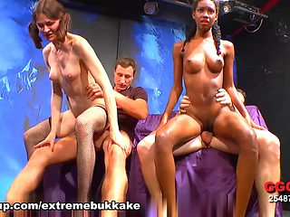 Hottest pornstar in Best Bukkake, Stockings porn clip