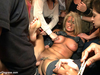 Hot Blonde Girl Gets Disgraced At A House Party - PublicDisgrace