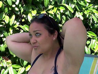 Thick Spanish Mom Fuck Hard Near Outdoor Pool