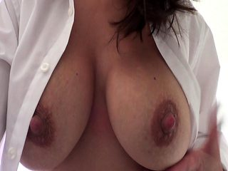 Big Boobs Brunette Messy Handjob