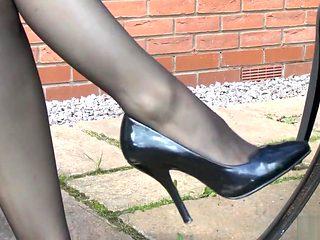 Miss Mackenzie Nylon Dangling Heels