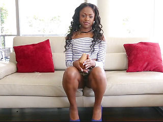 TeenyBlack menacing-fearsome Darksome Legal Age Teenager Drilled In 1St Time Movie Scene