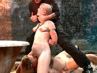 Ella Nova & Dylan Ryan in 2 Helpless Blonde Whores In Brutal Bondage - SadisticRope