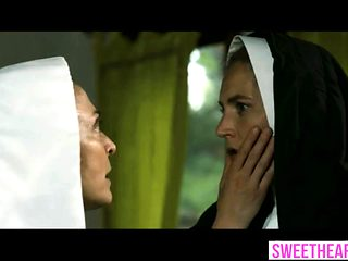 This is the secret life of a sinful blonde lesbian nun