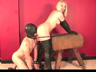 Get your tounge out, slave!