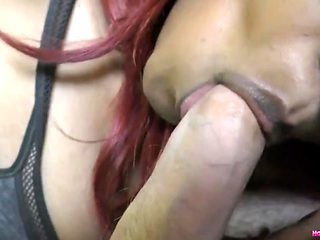 HornyLily giving a sensual blowjob