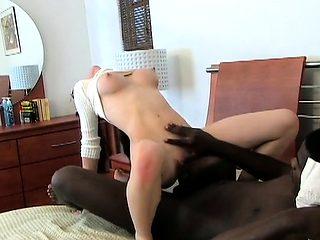 Big dick of a man drills deep inside the wet cunt of a slut