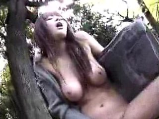 Big breasted Japanese beauty has a juicy peach yearning for