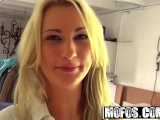 Pervs on Patrol - Dirty blonde Hailey Holiday filmed pov