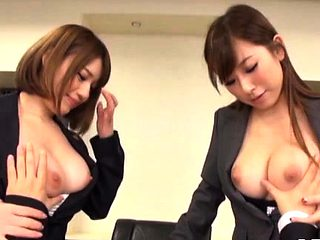 Young hotties making every other juicy in the office