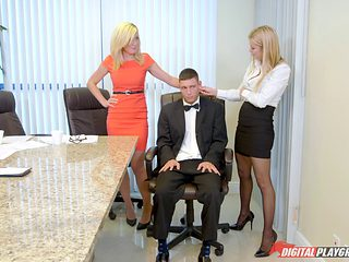 Elegant babes having the best dick-riding session of their lives