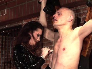 This dominatrix is a though one. It's one of our favorite