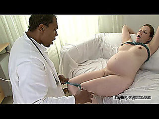 Heavily preggy brunette hair screwed by darksome stud teats areola and pregnant porn threatening-...