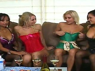 Hot and really crazy amateur party with Kina Kai, Lana, Nikki and Sammie Rhodes