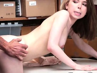 Teen Thief Alina West Gets Banged In Office