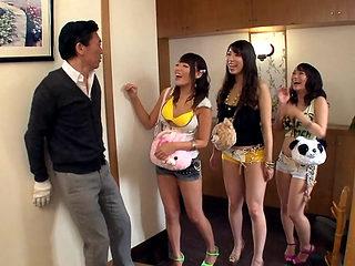 Mao Hamasaki & Mao Kurata & Mio Kayama in Man's House Gets Taken Over By Sluts - EritoAvStars