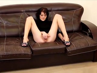 Slim MILF likes inserting bottle into pussy  fisting