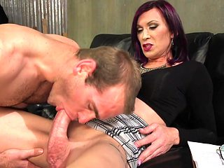 Jonah Marx & River Stark in Ts Film Directors Works Her Actors With Her Giant Hard Cock - TSSeduc...
