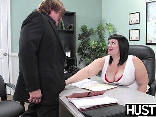 Angelic BBW Alexxis Allure fed cum after big cock hammering