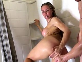 the mom and son is a great fuck in the bathroom