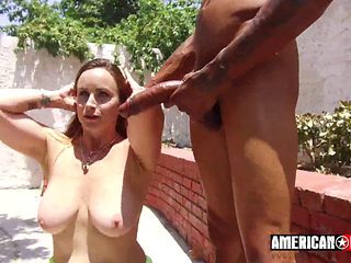 Redhair Girl Enjoys Big Black Cocks