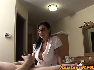 Stockinged CFNM MILF drilled from behind