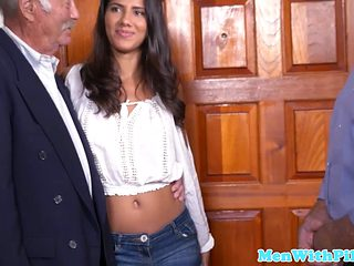 Petite Teen Doggystyled By Lucky Old Man
