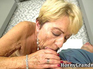 Spunked Grandmother Fucks