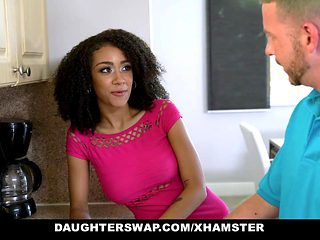 DaughterSwaps - Teen Fucks Older Daddy