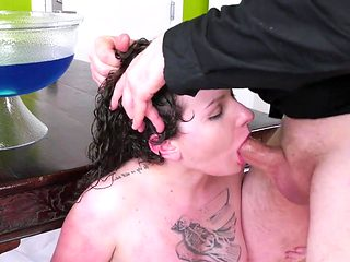 Aggressive anal and rimming with a nasty whore