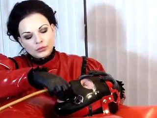 Horny amateur Femdom, Brunette sex clip