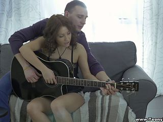 Leana's guitar playing ain't as good as her cock riding skills